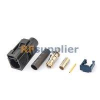 Fakra crimp Jack connector Black /9005 for RG316 RG174 LMR100 free shipping