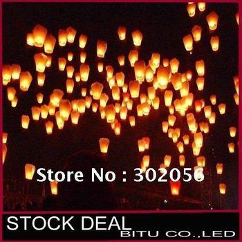 100pcs/lot Free Shipping Halloween goods paper sky lantern WJ011