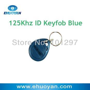 100pcs/lot RFID Proximity 125Khz ID  EM4100 compatible TK4100 Token Tag Keyfob Ring Bule