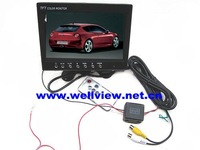 Standalone TFT LCD Color 7inch Car Monitor,with 2ways video inputs