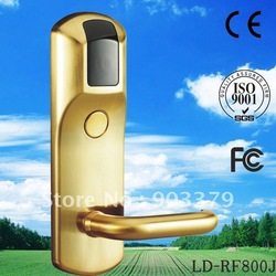 Guaranteed 100% zinc alloy security Hotel Door lock LD-RF800J/Y Free custom logo(China (Mainland))
