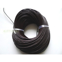 Free Shipping 2.5mm 100m Coffee Round Genuine Leather Jewelry Cords Jewelry Findings DIY Necklace Bracelet Cord DIY Accessories