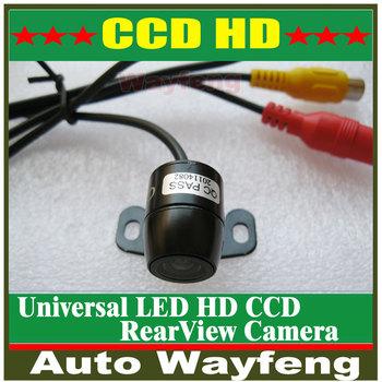 Hot HD CCD Car Camera Super Mini Car Rear View Camera parking back up reversing Camera 170 degree waterproof free shipping
