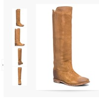 2015 Isabel Marant knee high boots Genuine Leather fashion wedges heel boots martin boots vintage motorcycle boots autumn winter