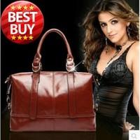 100% Genuine Leather Handbag Big Bag Vintage Real Leather Bag Shoulder Bag Cross-body Women's Bags