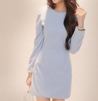 2014 autumn women slim basic gentlewomen elegant long-sleeve dress
