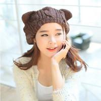 Fashion Winter Hats Women's Baseball Caps Kawaii Girls' Warm Hat Free Shipping