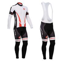 castelli cycling clothing 2014 winter thermal fleece cycling jersey long sleeve Cycling wear + bib long Pants