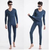 Winter Brand man long johns set Modal thermal underwear set basic men thin V-neck breathable elastic tight trousers+shirts