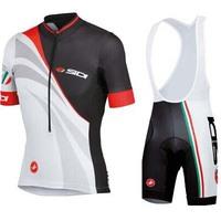 2014 Castelli Sidi Cycling Clothing/Bike Breathable Clothing/Bicycle Jerseys +Bike (bib ) Shorts Set
