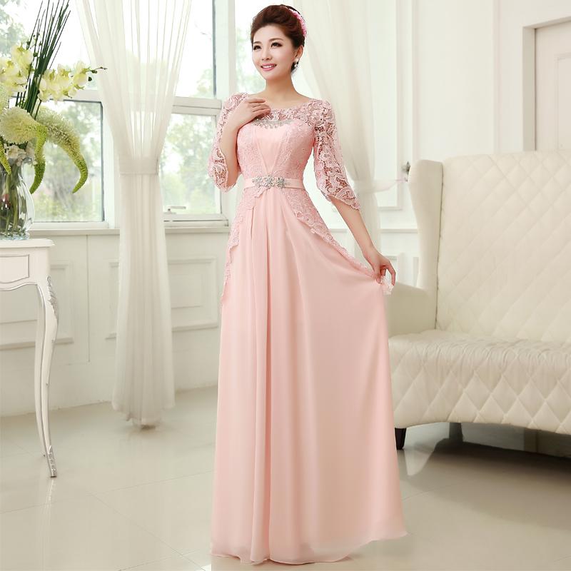 Платья вечерние с длинными рукавами