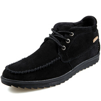 Autumn & Winter Men Warm Ankle Boots Eu 39-44 Good Quality Suede Leather Patchwork Design Men Casual Brand Fashion Sneakers