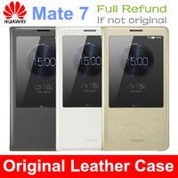 100% Original Huawei Ascend Mate 7 Flip Cover Case For Huawei Ascend Mate7 Mobile Phone Cover Case Free shipping