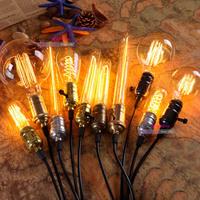 Retro LED/Incandescent Vintage Light Bulb ST64 G80 DIY Handmade Edison Bulb Fixtures,E27/110V/220V/40W lamp Bulbs Pendant Lamps