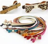 2014 Free Shipping Hot Sale Slim Brand Designer Narrow Ladies Solid PU Belts For Women BN-004