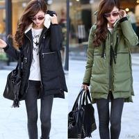2014 woman down pakars winter medium-long thickening plus size tooling down coat female