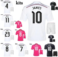 KROOS JAMES 14/15 Real Madrid home away soccer football jersey kits, Ronaldo BALE 2015 best quality soccer uniforms