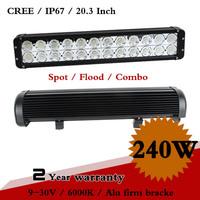 20.3 Inch 240W CREE LED Work Light Bar IP67 For Tractor ATV Offroad SUV Truck Fog Light External Light Seckill 120W 120W 200W