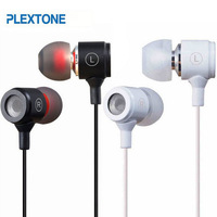 Plextone X37M 3.5mm In Ear Metal Headset Earphone Headphone With Mic Microphone For Htc Iphone Samsung Mobile Phone