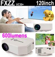 New 1080P Mini Multimedia 3D LED Projector Home Education Cinema Video AV TV VGA HDMI USB TF Free Shipping for Russia Brazil