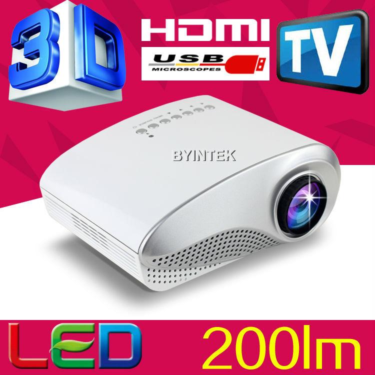 200lumens 1080P Portable Pocket multimedia Video Pico Micro Small Toys Mini 3D LED LCD Projector Beamer HDMI USB VGA TV Tuner(China (Mainland))