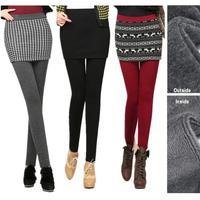 Womens Pants & Capris Winter Plus Velvet Skinny Pencil Skirt Pants Cotton Elastic Thicken Bottom Pants Retail S-2XL -4XL 38WL40P