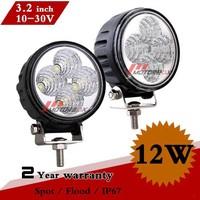2pcs 3.2inch 12W LED Work Light Led Off Road Light 12V 24V IP67 Spot Flood Beam For 4WD Truck 4x4 ATV Seckill 9W Fog Light Car