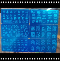 12PCS/lot Konad Designs Stamp Image Plate Stamping Nail Art DIY Image Plate Template (Free shipping)