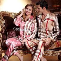 2014 Hot Sale Robe Sexy Nightgown Robe Lycra indoor clothing camisones satin pajamas Sleep Indoor Clothing Couples Suit Pajamas