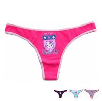 Love Pink Hello Kitty Thong for Women Panties cartoon Print Cotton Girls Panties