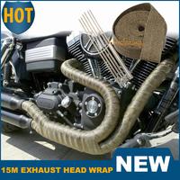 Motorcycle 15M Exhaust Header Wrap Manifold Fiberglass Titanium 3000 Fahrenheit Lava Insulating Heat Pipe Racing Car Accessories