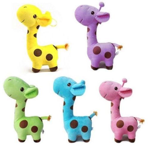 1 Piece Plush Giraffe Soft Toy Animal Dear Doll Baby Kid Child Birthday Happy Gift 5 Colors(China (Mainland))