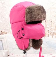 2014 Warm Winter  Unisex Earmuffs Cap With Mask Thick Camo  Ski Cap Ear Riding Bomber Outdoor Hats Caps For Women/Men( 9 Colors)