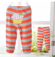 Retail 1pcs high quality baby clothing kids cotton pants anmial design comfortable long pants