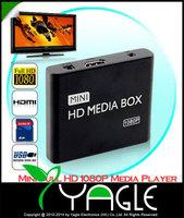 Upgrade Version Car/Home Mini Full HD 1080P Media Box Multi-Media Player with HDMI/AV/USB/SD/MMC - Support MKV & Blue-ray