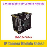 "Coming Soon HD 3.0 Megapixel IP Network Camera Module IPG-53A30P-A, 1/3"" APTINA AR0330 CMOS Sensor,Full Function Low Illuminance"