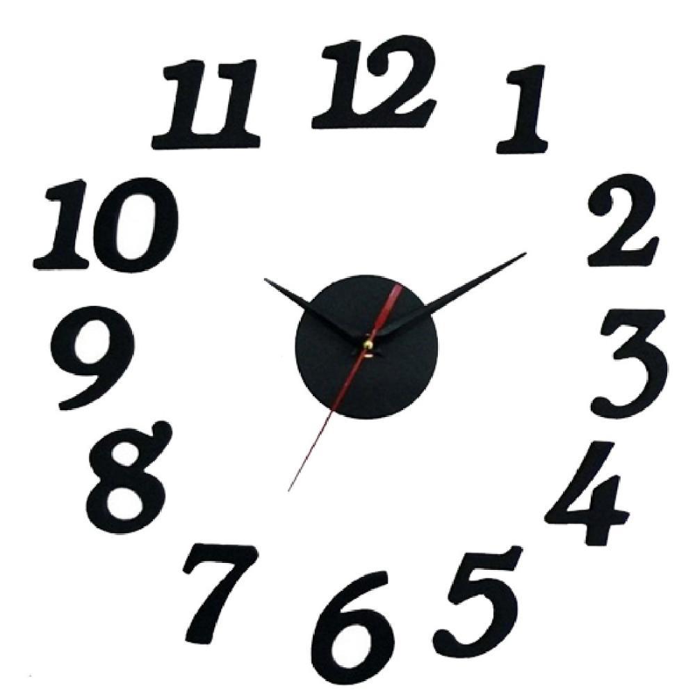 Free Shipping Modern DIY Clock Large Wall Clock 3D Sticker Foam Big Watches Home Decoration Colck(China (Mainland))