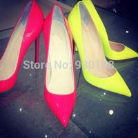 Classical 10cm Heels Dress Shoes Patent Leather Women Dress Shoes High Heel!