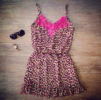 Women Floral Print Hollow out Backless lace beach dress Strap feminine vestido Saia Summer dress Rose Novelty Dress LJ075XGJ