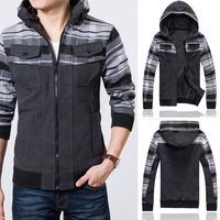 Brand New COAT 2014 Men's Casual Jacket Long Woolen Overcoat Cashmere Thickened Men's Windbreaker Coat for Men Outdoors