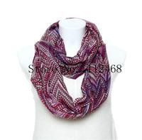 Wholesale Warm Infinity Scarf/ 5pcs/lot Cute Bohemian Style Wave Printing Fashion Woman Tube scarfs/WJ-221