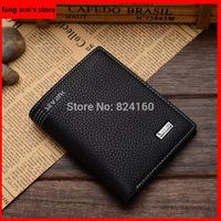 New!Men Wallets Business Luxury PU leather Wallet Pockets Card Bifold Purse