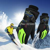 2014 Winter outdoor sport Mountain Skiing Gloves windstopper waterproof warm snowboard Below Zero ski Cycling Gloves men women