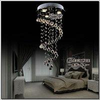Spiral Design Crystal Ceiling Light Fixture, Crystal Stair Light, Crystal Dining Light D400mm, H800mm MD6002