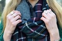New Fashion Shawl Wrap Cape Oversized Soft Tartan Checked Plaid Blanket Scarf 18
