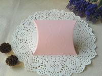 "Free Shipping 200pcs Pink Christmas Gift Box Pillow Boxes Embossed Bear 10x8.5cm(4""x3.3"")"