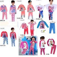 frozen elsa girls pyjama fashion baby kids pajama sets frozen queen clothing sets long sleeve cotton children sleepwear