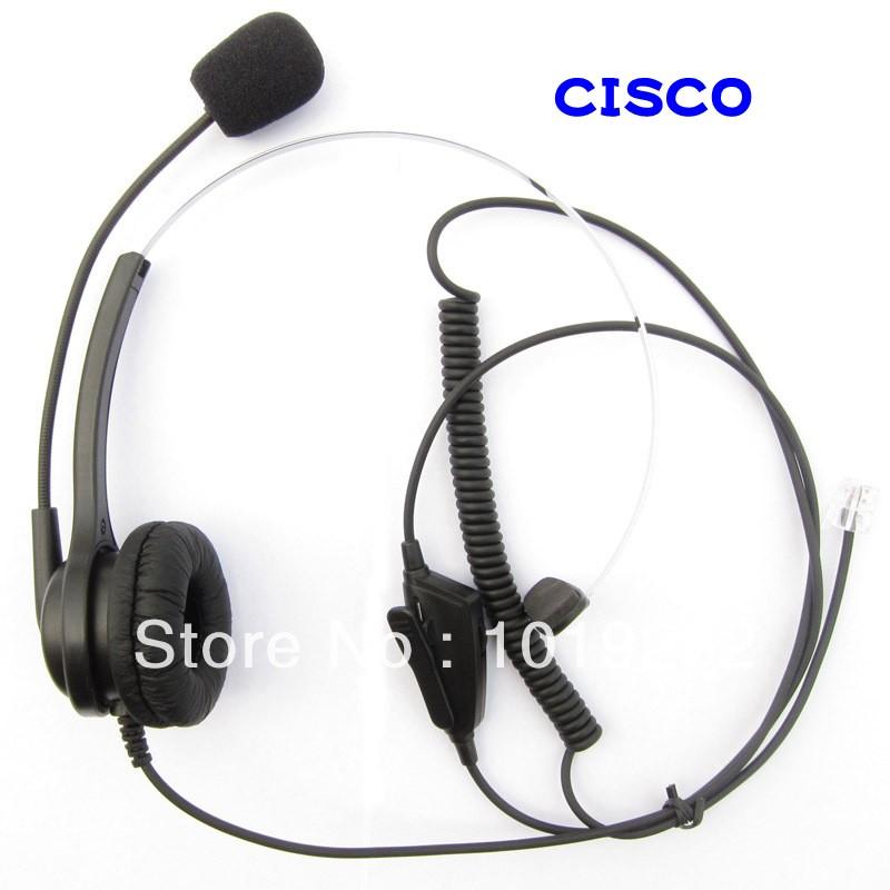 RJ09 plug headset RJ11 plug Call center office headset Adjustable Volume +Mute for Cisco Telephone 7940 7960 7960 8941 8945(China (Mainland))