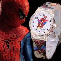 2014 Hot Children Watches Superman Wristwatch Cartoon Watch Best Christmas Gift for Child Sports Watches Silicone Wristwatches