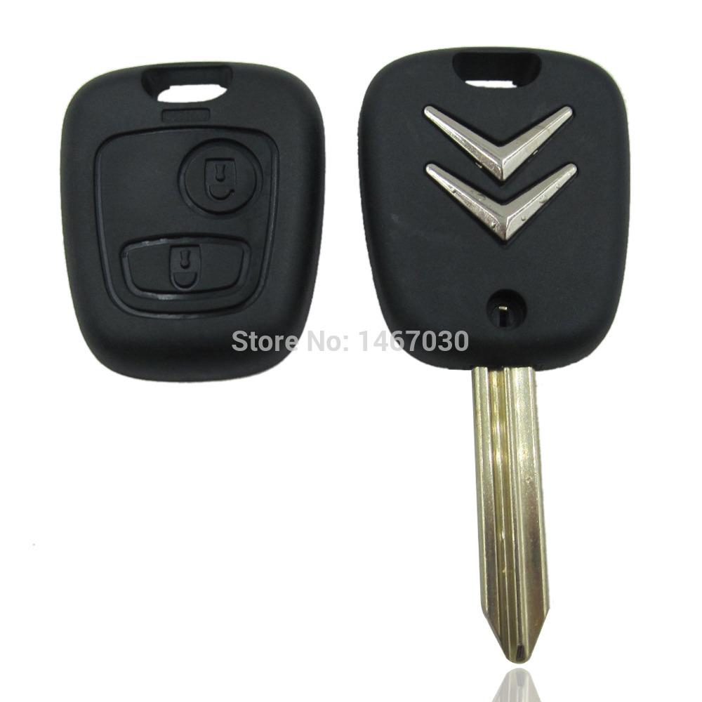 Citroen Saxo Xsara Picasso Berlingo Key Fob Case Remote 2 Button With Logo Free Shipping(China (Mainland))